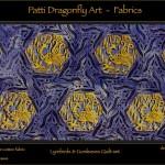 Lyrebirds & Gumleaves Quilt set detail - linoblock print