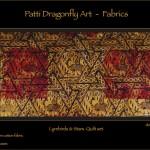 Lyrebirds & Stars Quilt set detail - linoblock print