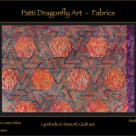 Lyrebirds & Stars Quilt set detail -linoblock print
