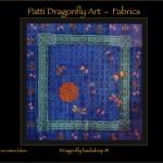 Dragonfly backdrop - linoblock print