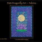 Lotus Mandala hanging - linoblock print