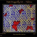 Blue Butterflies Quilt set - linoblock print
