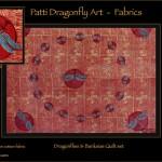 Dragonflies & Banksias Quilt set - linoblock print