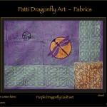 Purple Dragonfly Quilt set - linoblock print