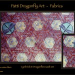 Lyrebirds & Dragonflies Quilt set detail - linoblock print