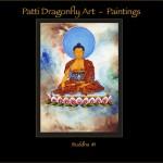 Buddha #1 - Thanka painting acrylic paint on canvas