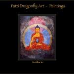 Buddha #2 - Thanka painting acrylic paint on canvas