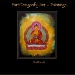 Buddha #3 - Thanka painting acrylic paint on canvas
