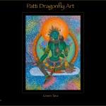Green Tara - Thanka painting acrylic paint on canvas