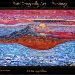 Mount Warning Caldera - acrylic paint on canvas