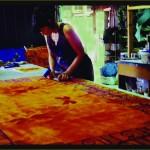 Printing fabric in the Studio